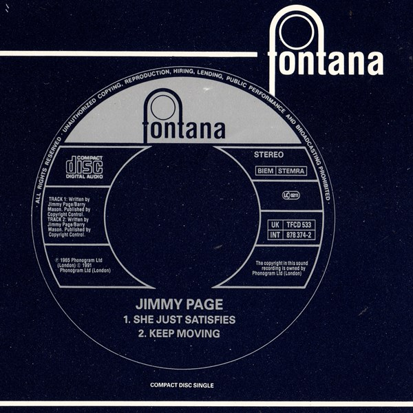 single: She Just Satisfies / Keep Moving JIMMY PAGE